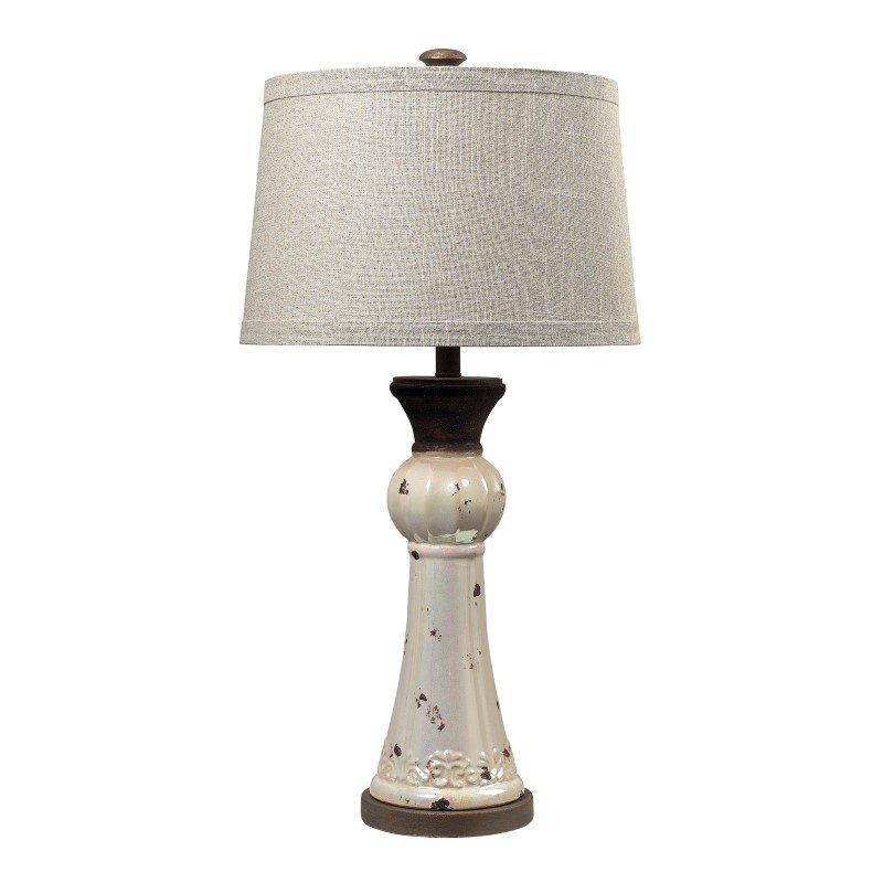 Dimond Lighting Lorraine Ceramic Table Lamp In Distressed Pearlescent (113-1127)