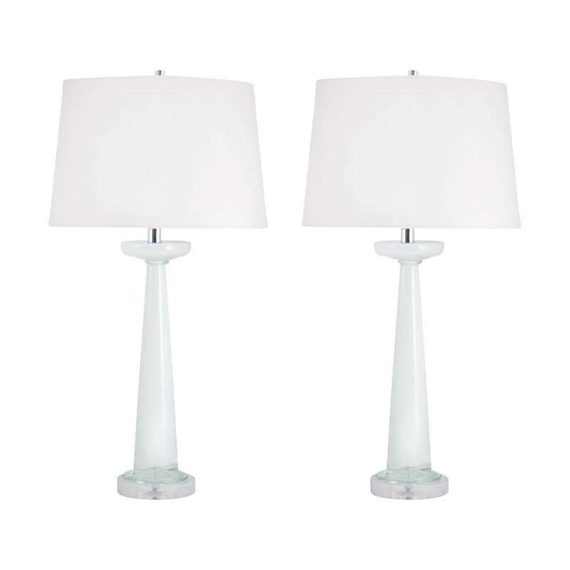 Dimond Lighting Luna Glass Table Lamps in White - Set of 2 ( 303W/S2)