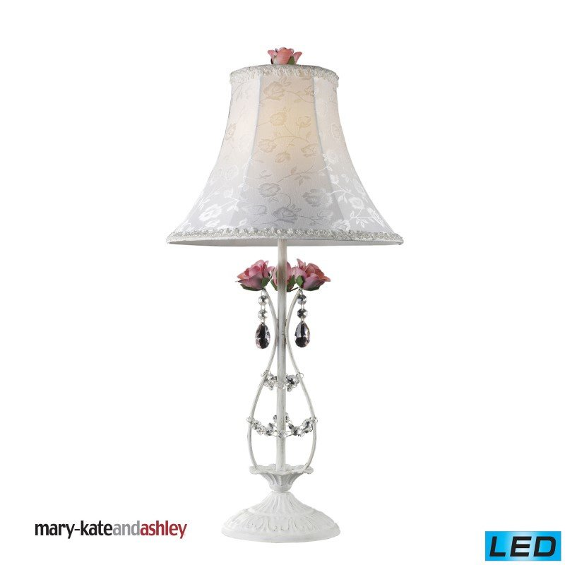 Dimond Lighting Mary-Kate and Ashley Rosavita LED Table Lamp in White and Pink (4051/1-LED)