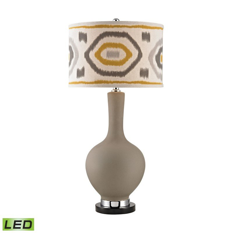 Dimond Lighting Matte Grey LED Lamp With Patterned Shade (D2809-LED)