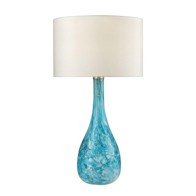 Dimond Lighting Mediterranean Blown Glass Table Lamp in Seafoam (D2691)