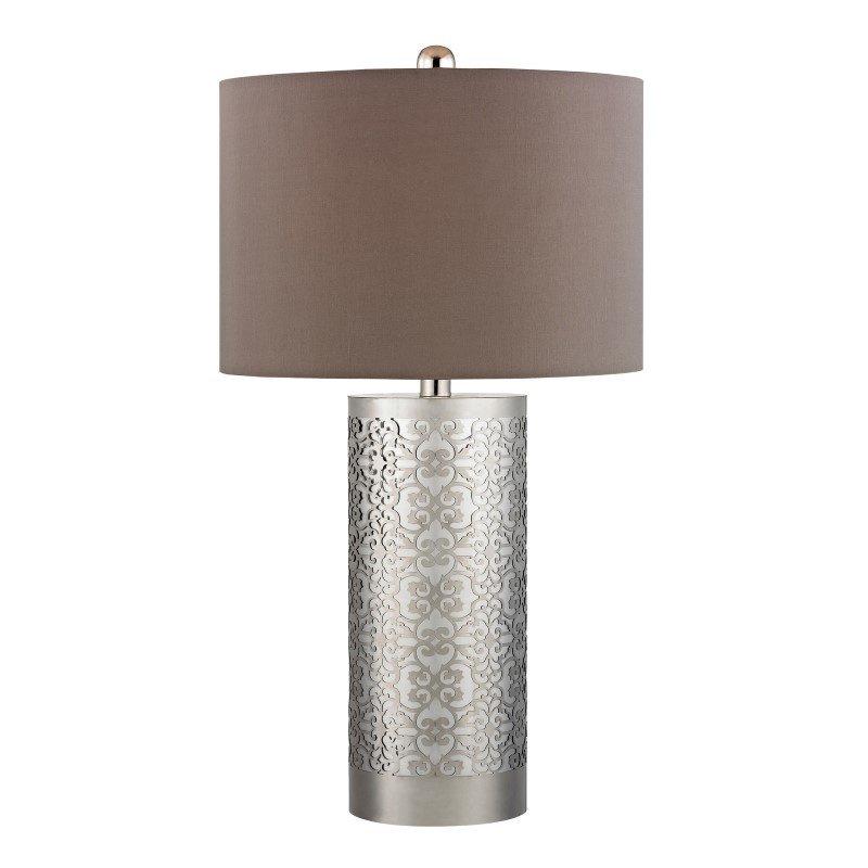Dimond Lighting Metal Filigree Table Lamp in Polished Nickel (D336)