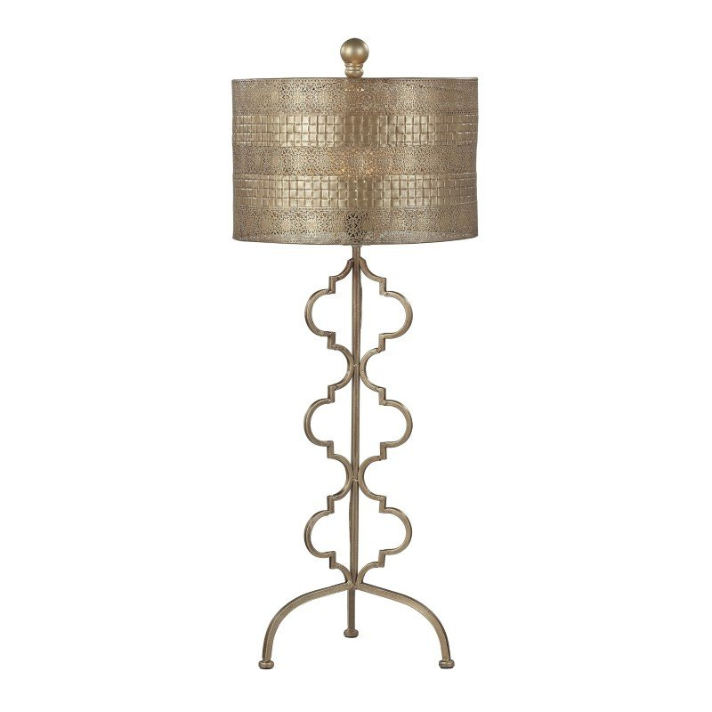 Dimond Lighting Metal Table Lamp in Gold Leaf (138-014)