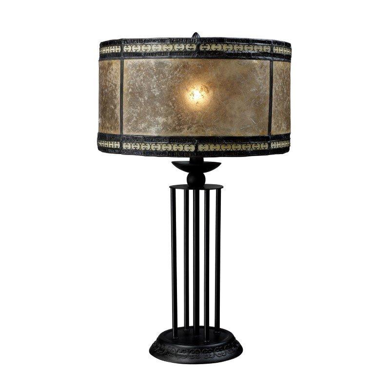Dimond Lighting Mica Filigree Table Lamp In Antique Black (D1849)