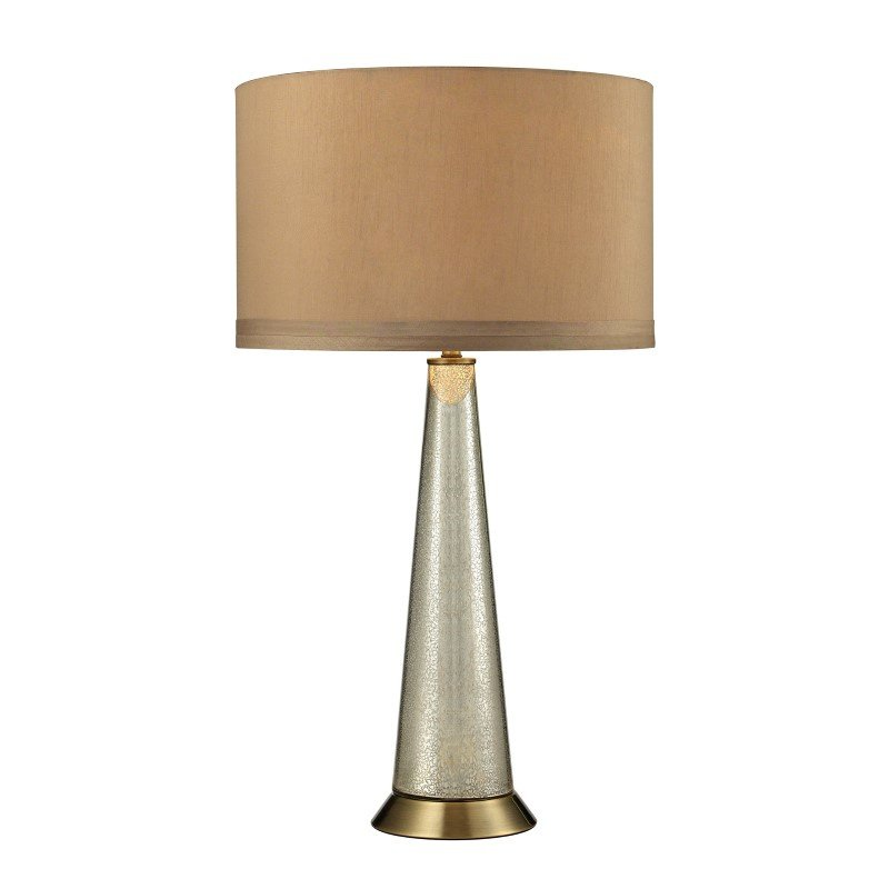 Dimond Lighting Middlebury Antique Mercury Glass Table Lamp in Aged Brass (D2698)