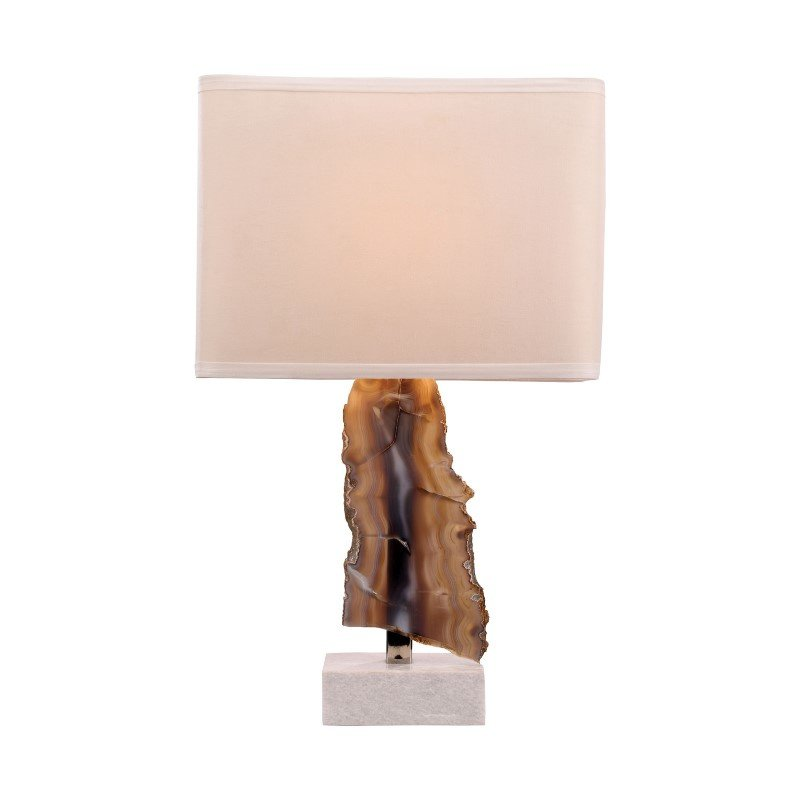 Dimond Lighting Minoa 1 Light Table Lamp In Natural Agate And Marble (8989-034)