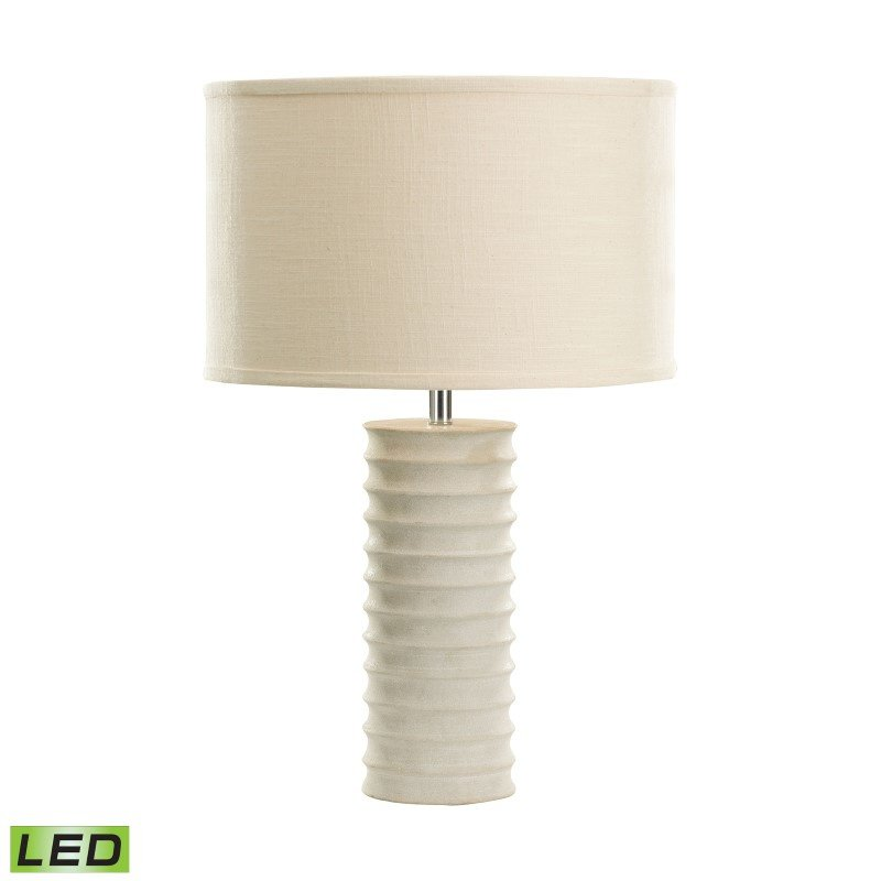 Dimond Lighting Mint Sand Stone Round Ribed LED Table Lamp (8989-006-LED)