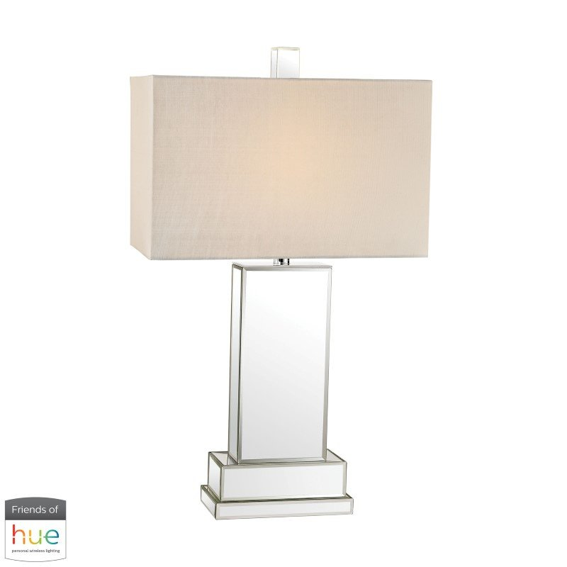 Dimond Lighting Mirror Block Table Lamp with Philips Hue LED Bulb/Bridge (D2859-HUE-B)