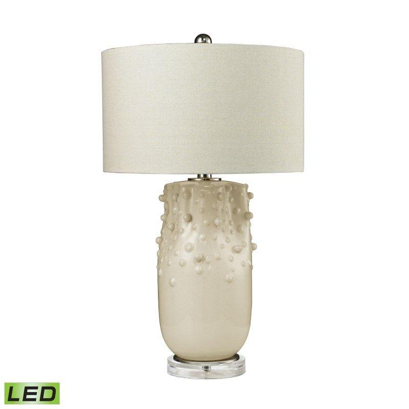Dimond Lighting Modern Organics LED Table Lamp in Ivory Glaze (D2610-LED)