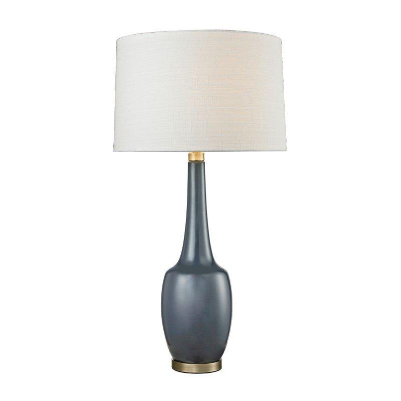 Dimond Lighting Modern Vase Ceramic Table Lamp in Navy Blue (D2611NB)