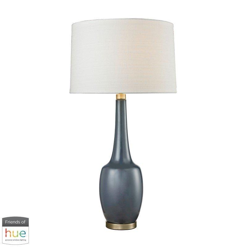 Dimond Lighting Modern Vase Ceramic Table Lamp in Navy Blue with Philips Hue LED Bulb/Bridge (D2611NB-HUE-B)