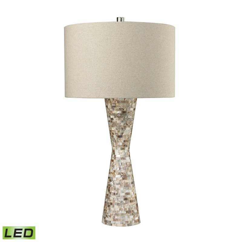 Dimond Lighting Mother of Pearl Waisted LED Table Lamp With Sand Linen Shade (D2607-LED)