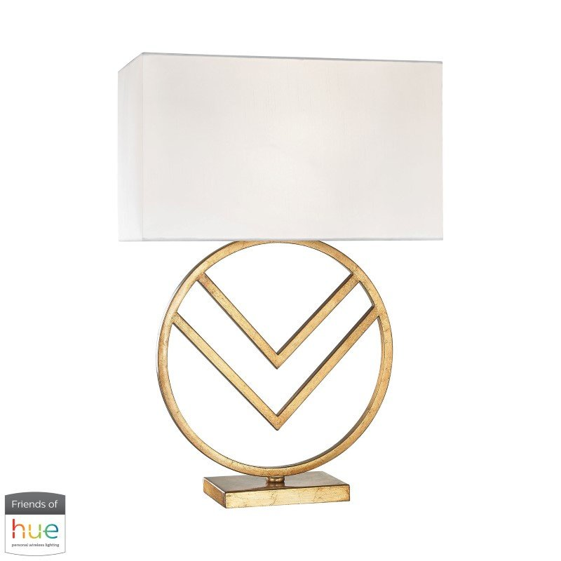 Dimond Lighting Munich Table Lamp in Gold Leaf with Philips Hue LED Bulb/Dimmer (1141-002-HUE-D)