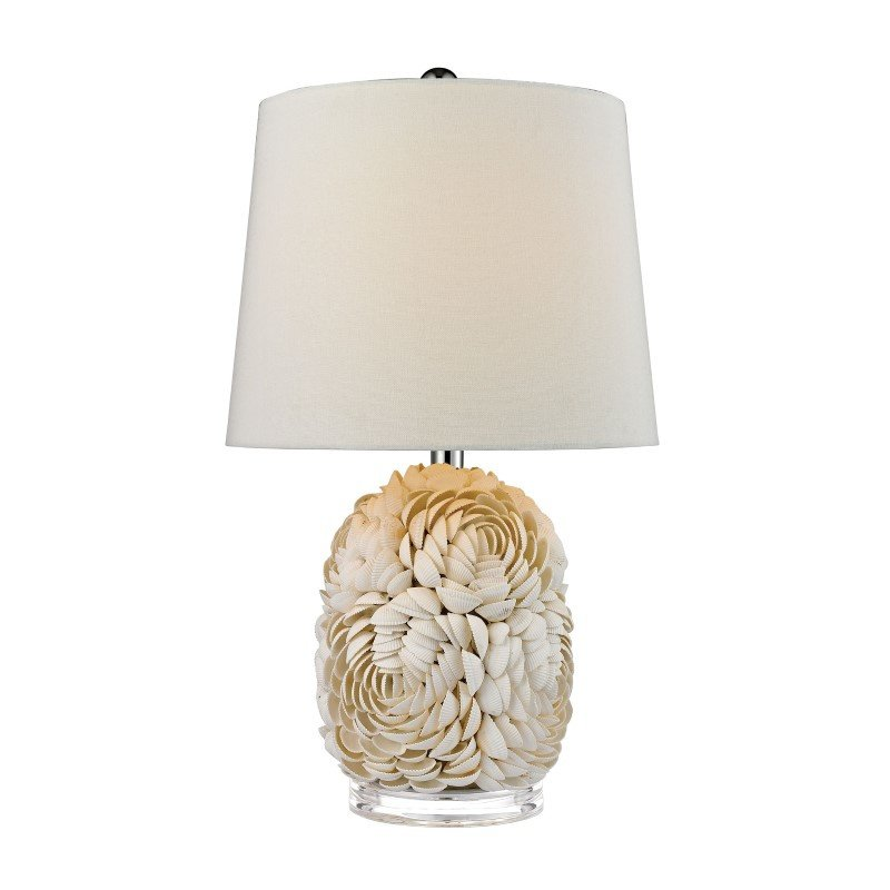 Dimond Lighting Natural Shell Table Lamp With Off White Linen Shade (D2655)