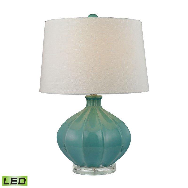 Dimond Lighting Organic Ceramic LED Table Lamp in Seafoam Glaze (D2624-LED)