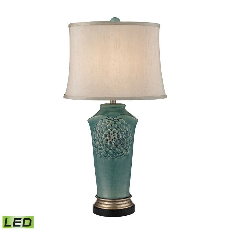 Dimond Lighting Organic Flowers LED Table Lamp in Seafoam Finish (D2626-LED)