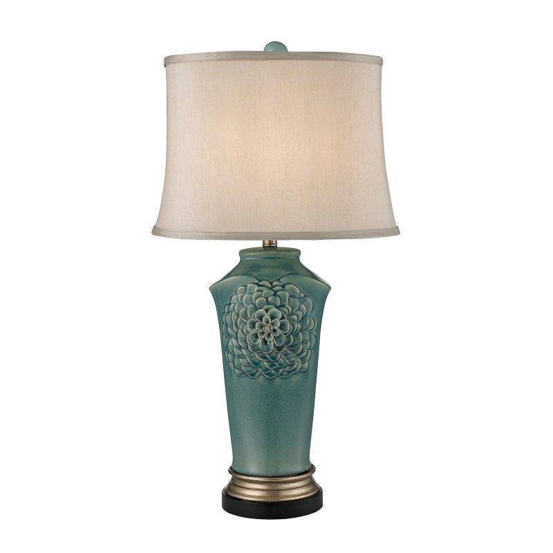 Dimond Lighting Organic Flowers Table Lamp in Seafoam Finish (D2626)