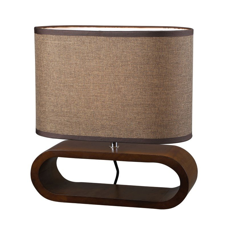 Dimond Lighting Oval Table Lamp in Natural Stained Wood (D153)