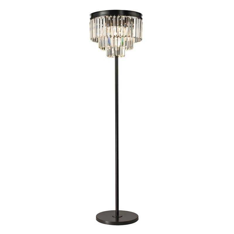 Dimond Lighting Palacial 3 Light Floor Lamp In Oil Rubbed Bronze And Clear Crystal (14211/3)