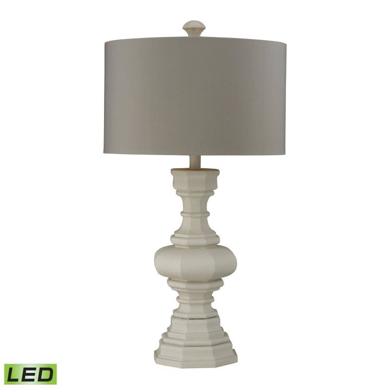 Dimond Lighting Parisian Plaster Finish LED Table Lamp With Light Grey Shade (D223-LED)