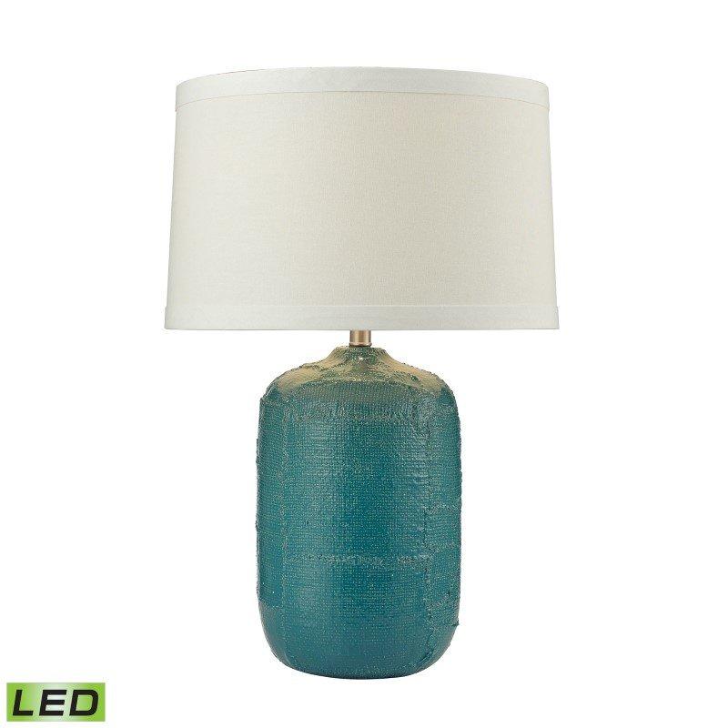 Dimond Lighting Patchwork Ceramic LED Table Lamp In Mediterranean Blue Finish (D2694-LED)