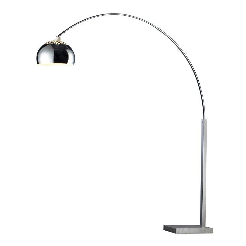Dimond Lighting Penbrook Arc Floor Lamp In Chrome With White Marble Base (D1428)