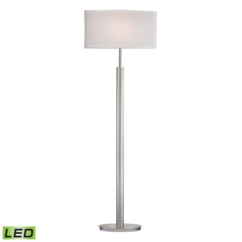 Dimond Lighting Port Elizabeth LED Floor Lamp in Satin Nickel (D2550-LED)