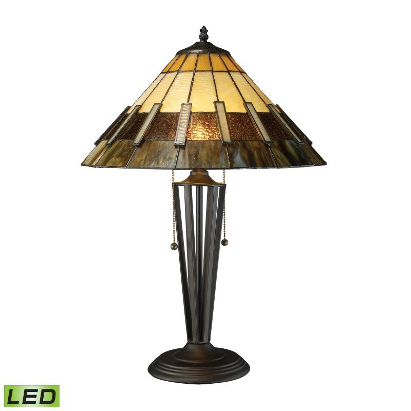 Dimond Lighting Porterdale 2 Light LED Table Lamp In Tiffany Bronze (D1860-LED)