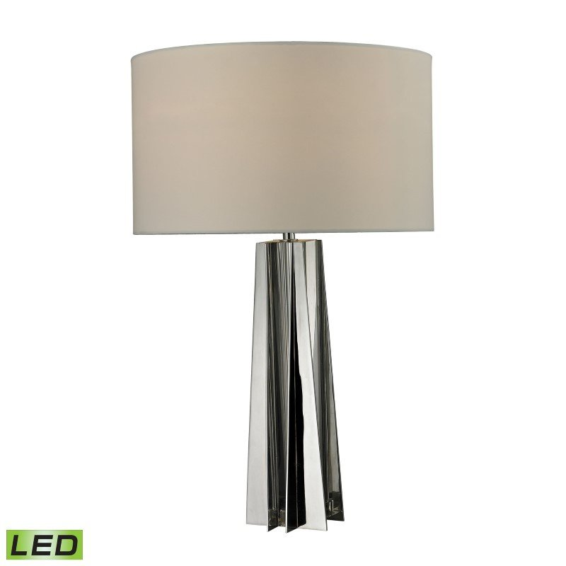 Dimond Lighting Ranick Clear Crystal LED Table Lamp in Chrome (D2421-LED)