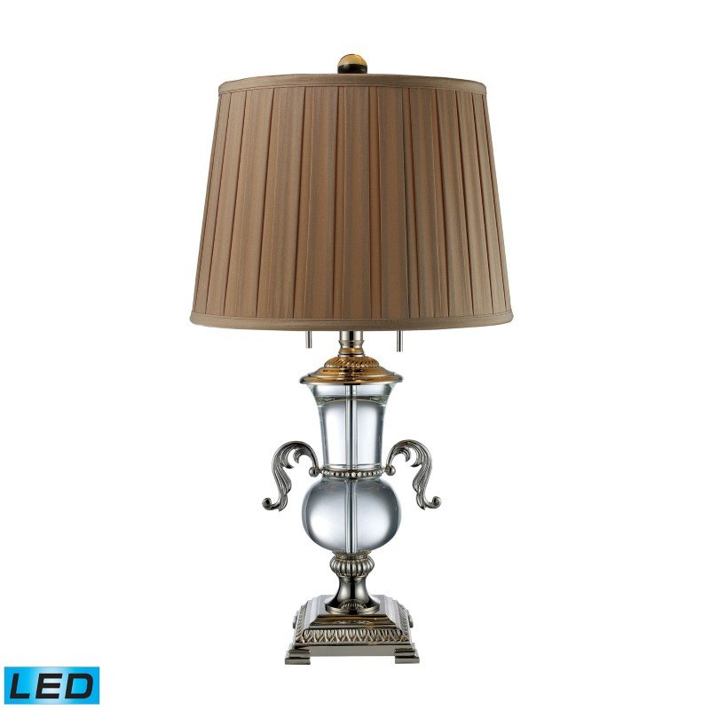 Dimond Lighting Raven 2 Light LED Table Lamp In Clear Crystal And Polished Nickel (D1810-LED)