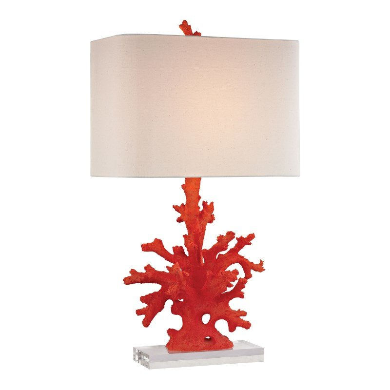 Dimond Lighting Red Coral Table Lamp in Red (D2493)