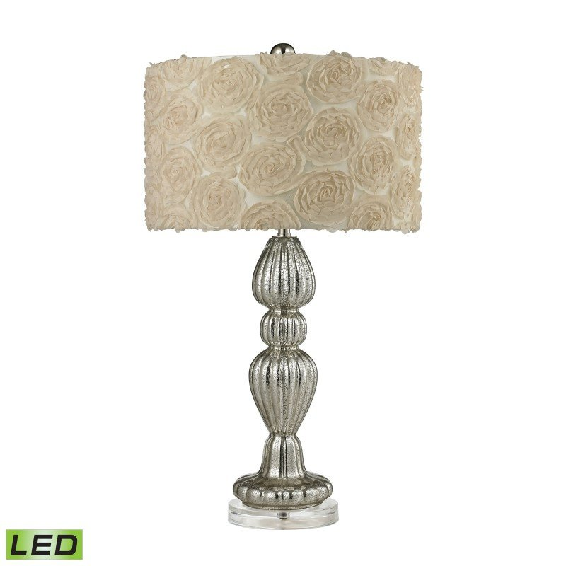 Dimond Lighting Ribbed Glass LED Table Lamp in Silver Mercury (D2559-LED)