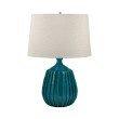 Dimond Lighting Ribbed Terra Cotta Table Lamp in Sky Blue ( 243)