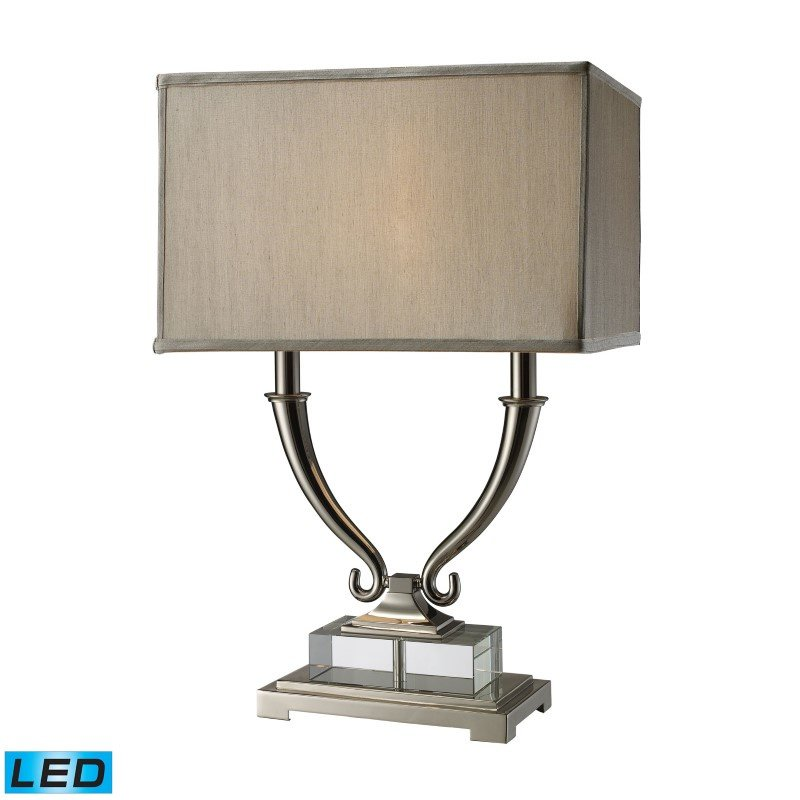 Dimond Lighting Roberts 2 Light LED Table Lamp In Polished Nickel And Clear Crystal (D1873-LED)