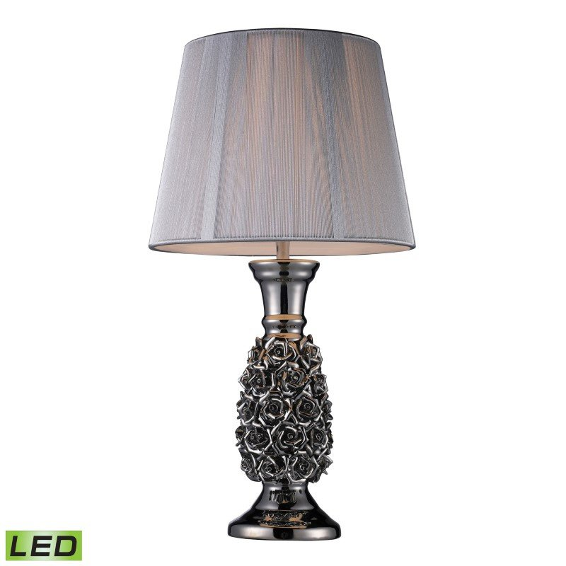 Dimond Lighting Roseto LED Table Lamp In Alisa Silver With Silver String Shade (D1447-LED)