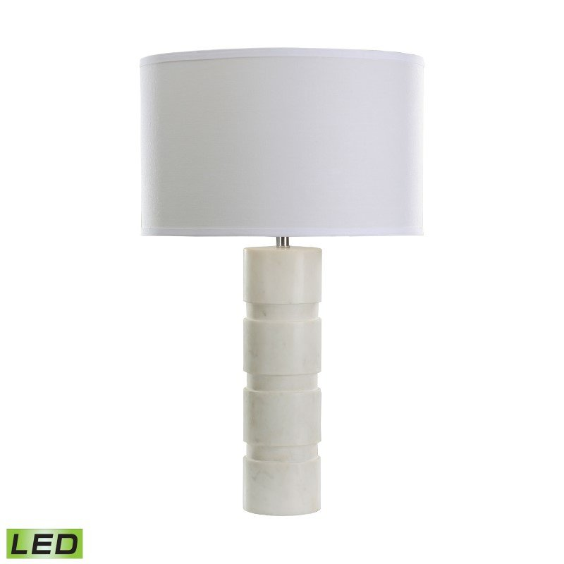 Dimond Lighting Round Stacked Marble LED Table Lamp (8989-002-LED)