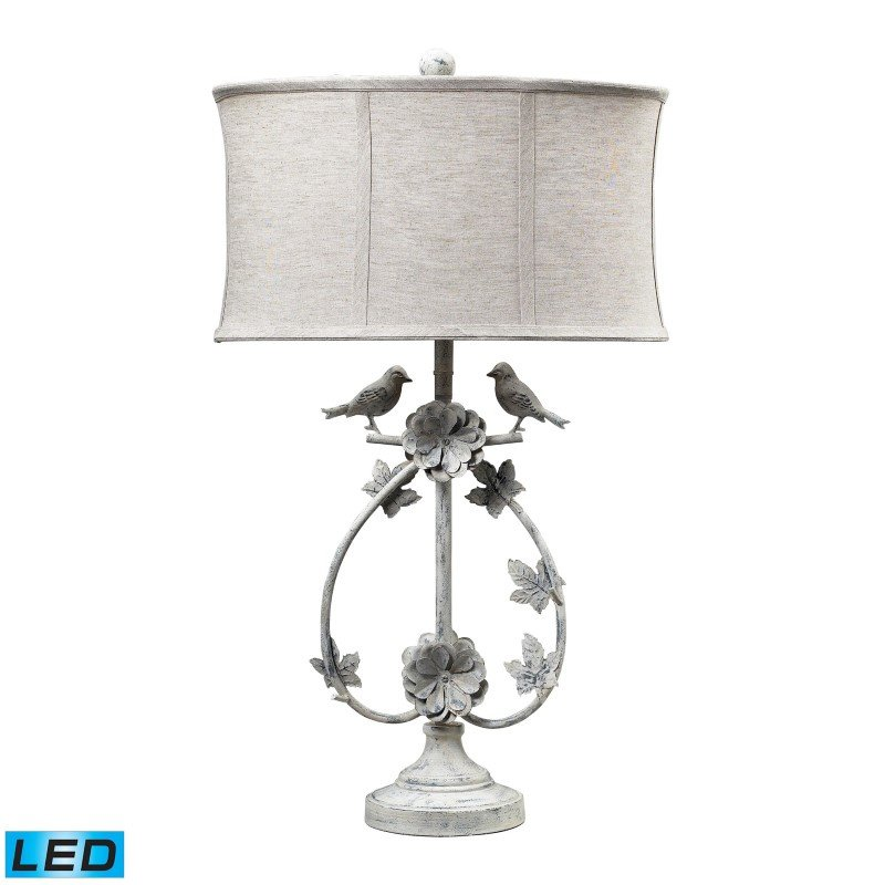 Dimond Lighting Saint Louis Heights LED Table Lamp in Antique White (113-1134-LED)