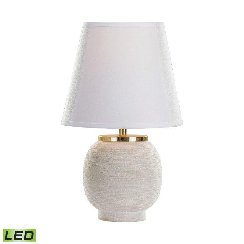 Dimond Lighting Sand Stone Ribbed Rough Round LED Table Lamp (8989-005-LED)