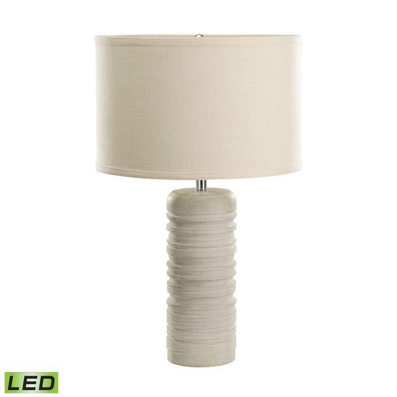Dimond Lighting Sand Stone Ribbed Round LED Table Lamp (8989-003-LED)