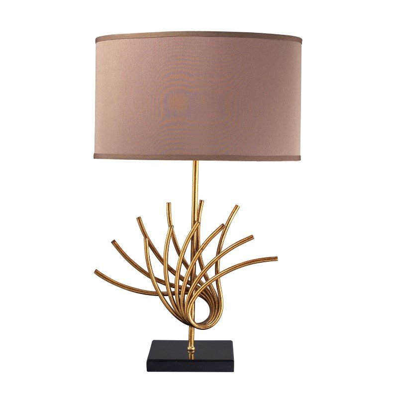 Dimond Lighting Sandhill Table Lamp In Gold Leaf (D2136)