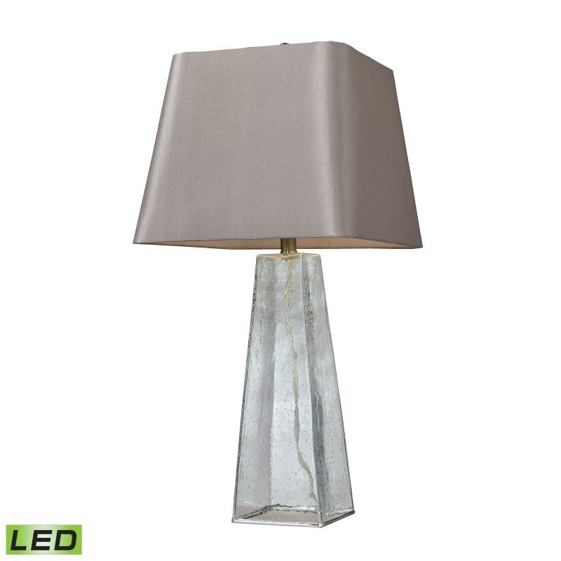Dimond Lighting Seeded Glass LED Table Lamp in Clear With Light Grey Shade (D146-LED)