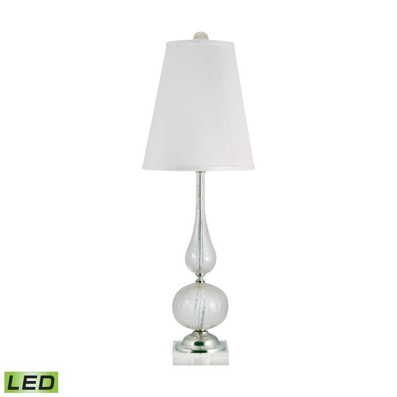 Dimond Lighting Serrated Venetian Glass LED Table Lamp in Clear And Gold ( 316-LED)
