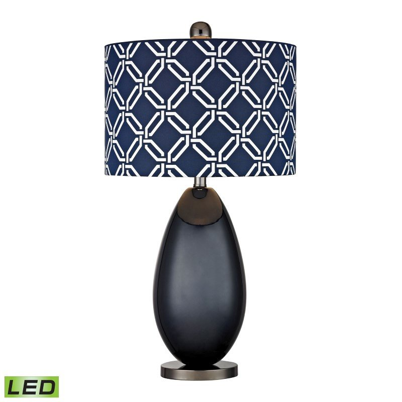 Dimond Lighting Sevenoakes LED Table Lamp In Navy Blue And Black Nickel (D2521-LED)