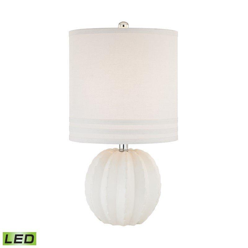 Dimond Lighting Seychelles 1 Light LED Table Lamp in White ( D2908-LED)