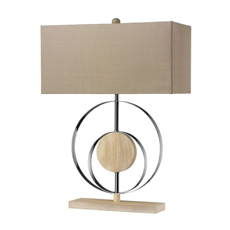 Dimond Lighting Shiprock Bleached Wood Table Lamp in Chrome (D2297)