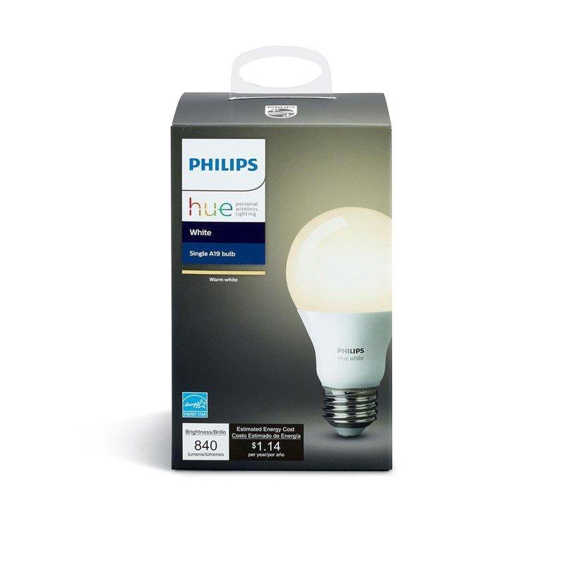 Dimond Lighting Small White Cube Lamp with Philips Hue LED Bulb/Bridge (D2753-HUE-B)