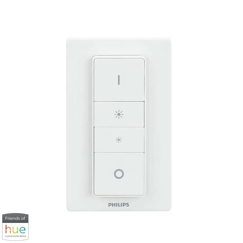 Dimond Lighting Small White Cube Lamp with Philips Hue LED Bulb/Dimmer (D2753-HUE-D)