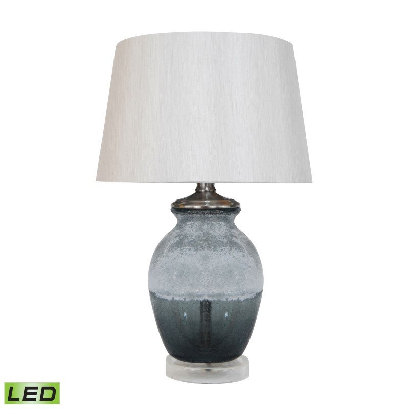 Dimond Lighting Smoked and Frosted Glass LED Table Lamp in Grey With Grey Shade (D295-LED)
