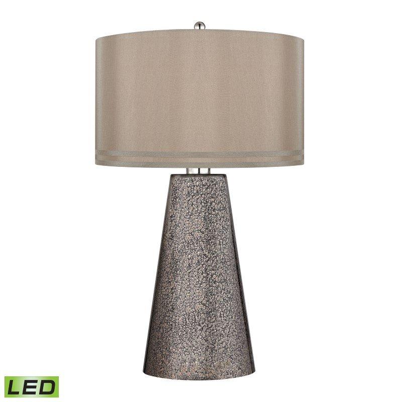 Dimond Lighting Stafford LED Table Lamp In Heavy Metal Mercury Mosaic Finish (D2496-LED)
