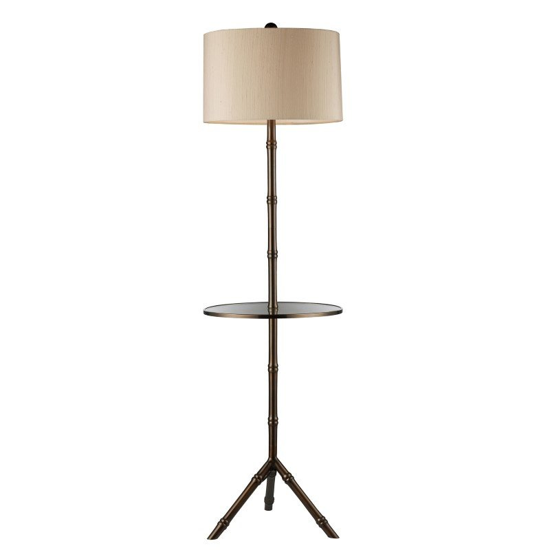 Dimond Lighting Stanton Floor Lamp In Dunbrook Finish With Glass Tray (D1403D)
